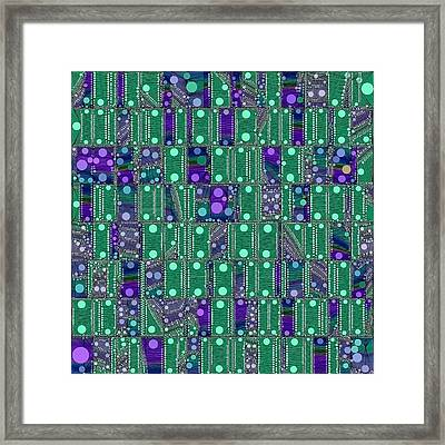 Quantum Motherboard Framed Print by Susan Maxwell Schmidt
