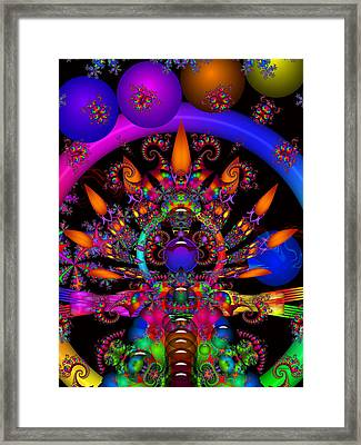 Framed Print featuring the digital art Quantum Physics by Robert Orinski