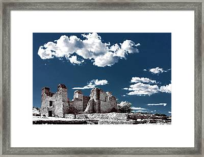 Quarai New Mexico - Infrared False Color Framed Print by Christine Till