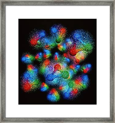 Quark Structure Of Silicon Atom Nucleus Framed Print