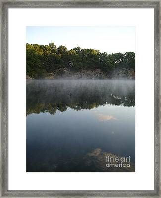 Quarry Reflections Framed Print by Chad Natti