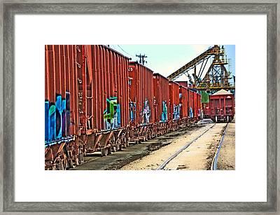 Quarry Train Framed Print