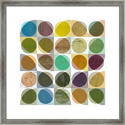 Framed Print featuring the digital art Quarter Circles Layer Project One by Michelle Calkins