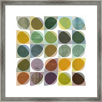 Framed Print featuring the digital art Quarter Circles Layer Project Two by Michelle Calkins