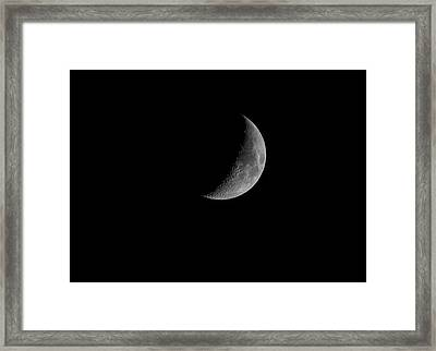 Quarter Moon 2016 Framed Print by Thomas Young