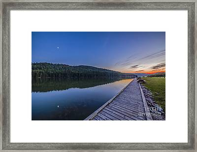 Quarter Moon Reflected In The Waters Framed Print by Alan Dyer