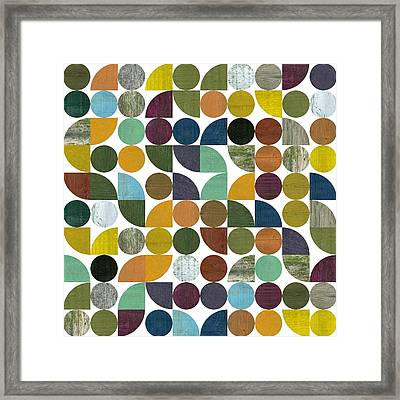 Framed Print featuring the digital art Quarter Rounds And Rounds 100 by Michelle Calkins