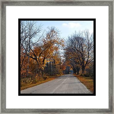 Quarterline Road Framed Print