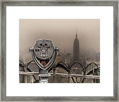 Framed Print featuring the photograph Quarters Only by Chris Lord