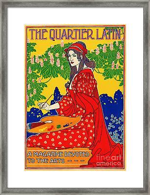 Quartier Latin Vintage Poster 1890 Framed Print