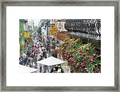 Framed Print featuring the photograph Quartier Petit Champlain by John Schneider