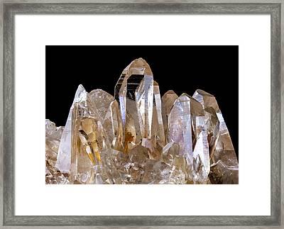 Quartz Crystals Framed Print