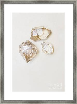 Quartz Crystals Framed Print
