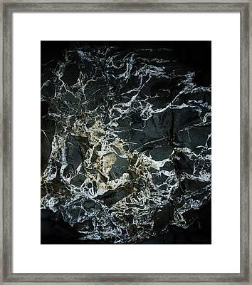 Quartz Veins Abstract 1 Framed Print by Richard Brookes