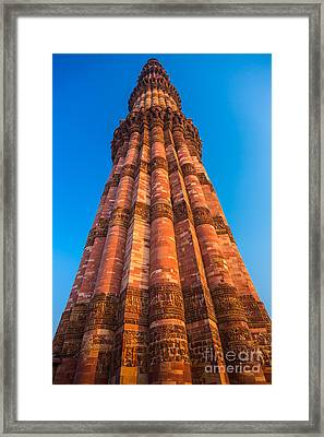 Quatab Minar Tower Framed Print