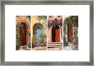 Quattro Porte Framed Print by Guido Borelli