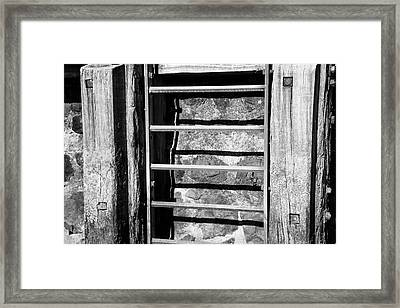 Quay Stairs Framed Print by Adriana Zoon