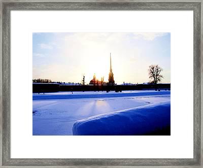 Framed Print featuring the digital art Quay  by Yury Bashkin