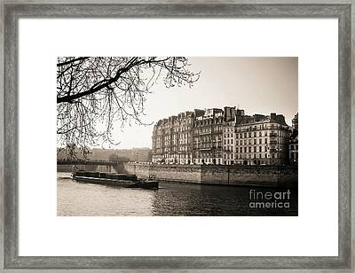 Quays Of The Seine And Ile Saint-louis. Paris. France. Europe. Framed Print by Bernard Jaubert