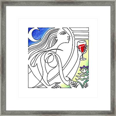 Que Syrah Framed Print by Roy Guzman