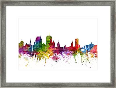 Quebec City Canada Cityscape 06 Framed Print by Aged Pixel