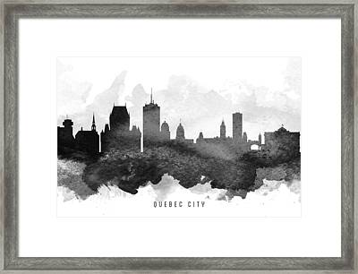 Quebec City Cityscape 11 Framed Print by Aged Pixel