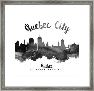 Quebec City Skyline 18 Framed Print by Aged Pixel