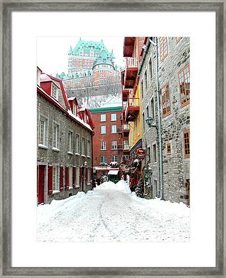 Quebec City Winter Framed Print by Thomas R Fletcher