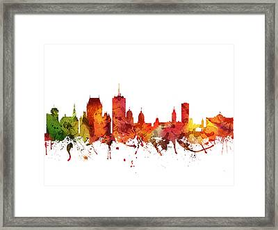 Quebec Cityscape 04 Framed Print by Aged Pixel