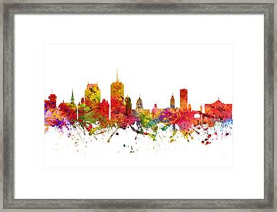 Quebec Cityscape 08 Framed Print by Aged Pixel
