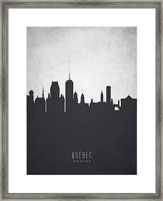 Quebec Cityscape 19 Framed Print by Aged Pixel