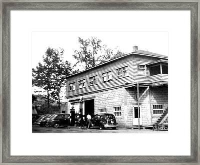 Quebec Garage 1940s Framed Print by Will Borden