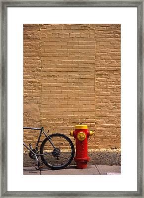 Quebec Hydrant Framed Print by Art Ferrier