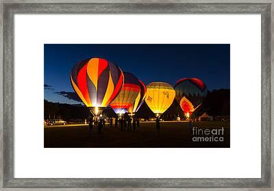 Quechee Balloon Festivial Framed Print