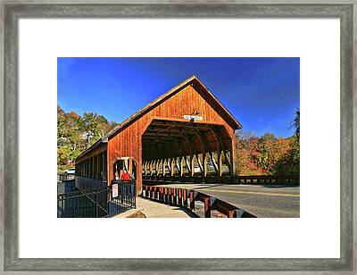 Quechee Covered Bridge Framed Print by Allen Beatty