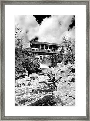 Quechee Framed Print by Greg Fortier