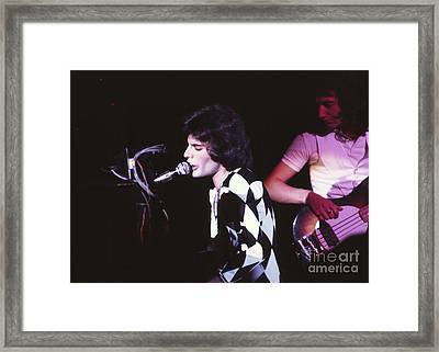 Queen 1975 Freddie Mercury Framed Print