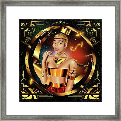 Queen Amandla Stenberg Framed Print by Kenal Louis
