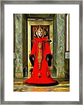 Queen Amidala Throne Room Costume 2 Framed Print by Leonardo Digenio
