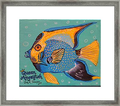 Queen Angelfish Framed Print by Emily Reynolds Thompson
