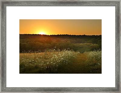 Queen Anne's Sunrise Framed Print by Rob Blair