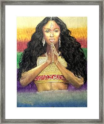 Queen Ano Framed Print by G Cuffia