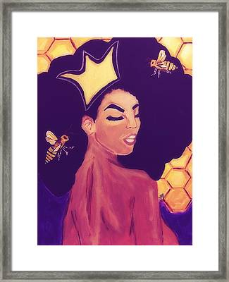 Queen Bee  Framed Print by Miriam Moran