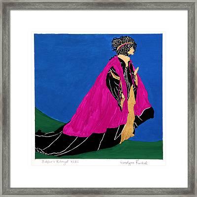 Queen Framed Print by Carolynn Fischel