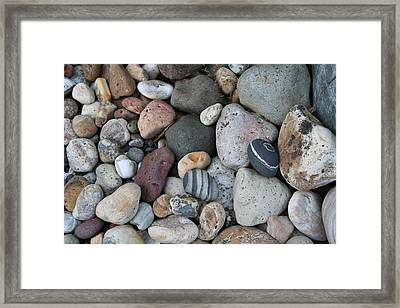 Queen Charlotte Island Stones Framed Print by Sherry Leigh Williams