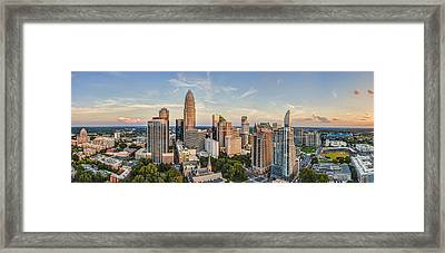 Queen City Pano Framed Print