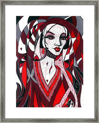 Queen Framed Print by Danielle R T Haney