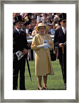 Queen Elizabeth At The Races Framed Print