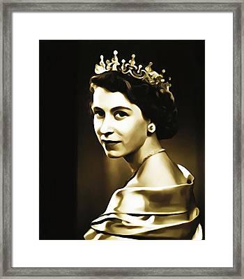 Queen Elizabeth II Framed Print by Bill Cannon