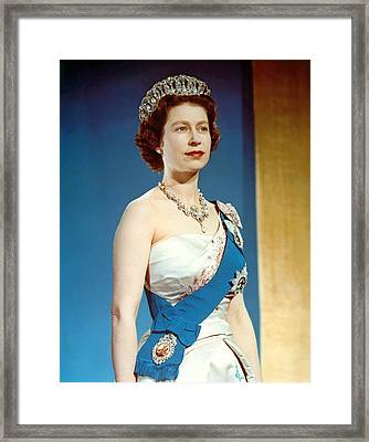 Queen Elizabeth II, Coronation Framed Print